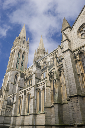 Truro Cathedral stock photo, The Cathedral of the Blessed Virgin Mary Truro Cornwall by Stephen Meese