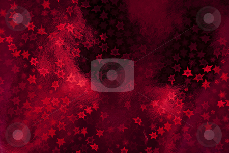 Christmas decorations stock photo, Red wrapping paper with stars by Portokalis