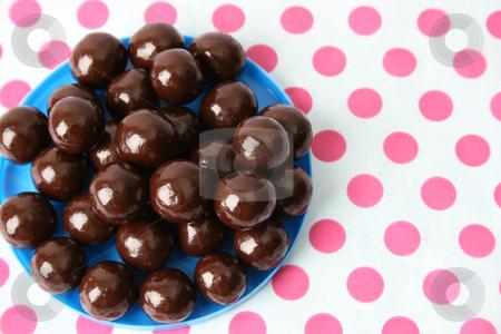 Chocolate Balls stock photo, Vanilla and Dark Chocolate balls on a dotty background by Vanessa Van Rensburg