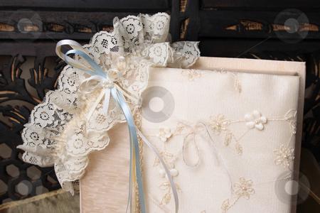 Garter and Jewellery Box stock photo, Cream Colored Jewellery box and bridal garter by Vanessa Van Rensburg