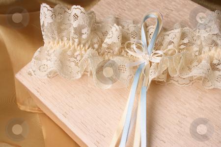 Cream Garter stock photo, Cream Colored Jewellery box and bridal garter by Vanessa Van Rensburg