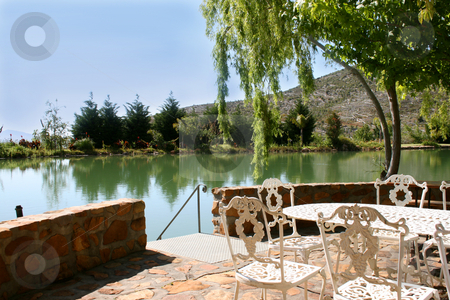 Patio on farm stock photo, Patio on an olive farm in the Western Cape by Vanessa Van Rensburg