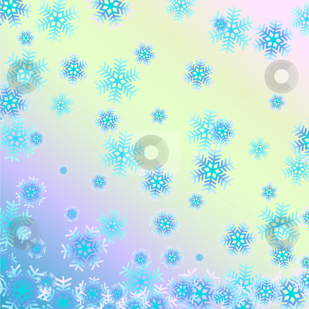 Snowflake stock vector clipart, Beautiful vector background with snowflakes. by Liubov Nazarova