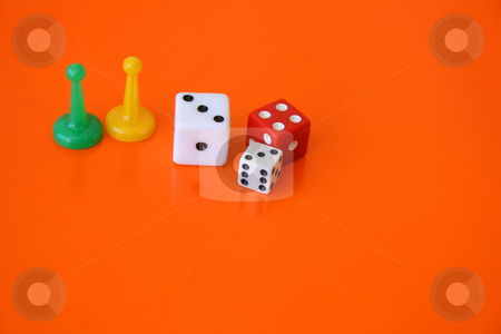 Gaming Pieces stock photo, Played pieces that was part of a game set by Vanessa Van Rensburg
