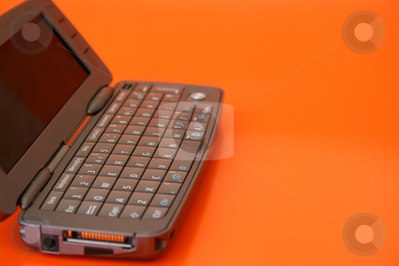 Mobile Telephone stock photo, New technology Flip-open cellphone with keyboard by Vanessa Van Rensburg