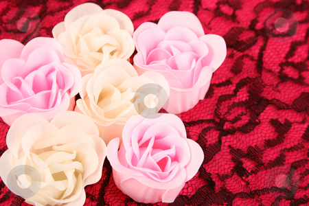 Soap Flowers stock photo, Pink and white flowers made out of Soap by Vanessa Van Rensburg