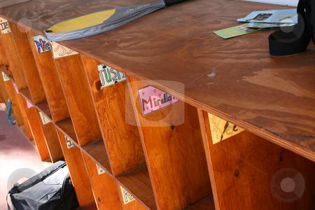 Afterschool stock photo, School Lockers deserted after school with a few belongings left behind by Vanessa Van Rensburg
