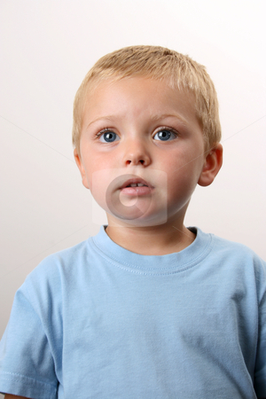 Beautiful Blond Boy stock photo, Beuatiful Blond toddler with big blue eyes by Vanessa Van Rensburg