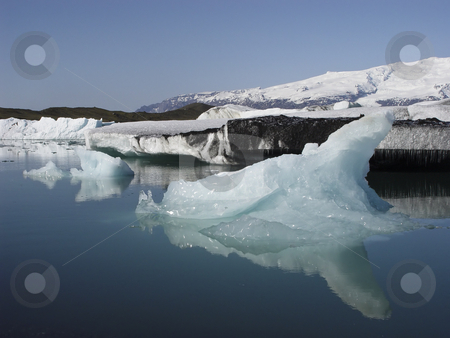 Frozen stock photo, Iceberg on the largest glacial lake in Iceland, Jokulsarlon, Iceland, Europe by mdphot