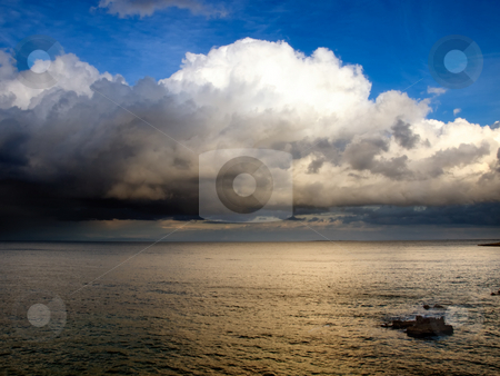 After storm stock photo, View of the open sea after the storm... by Sinisa Botas