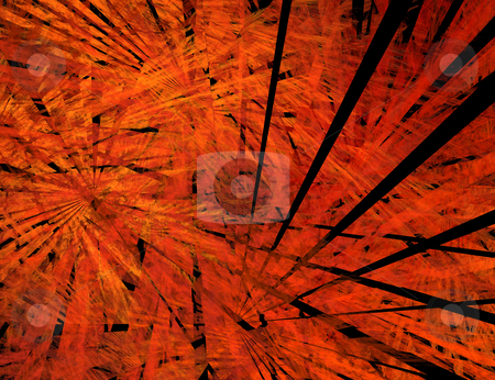 Big bang. Black rays in flame stock photo, Abstract image of Big Bang. Black rays in flame. Fractal by Onyshchenko Viktor