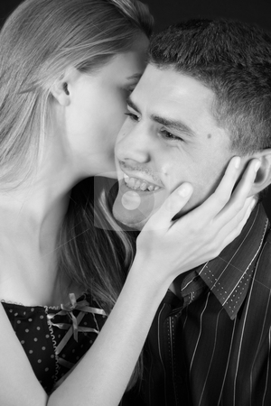Secret stock photo, Young couple in love, faces close to one another by Vanessa Van Rensburg