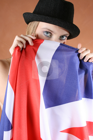 Union Jack stock photo, Beautiful young female model with a Union Jack by Vanessa Van Rensburg