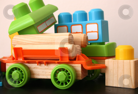 Fun Toys stock photo, Fun educational toys for children in bright colors by Vanessa Van Rensburg