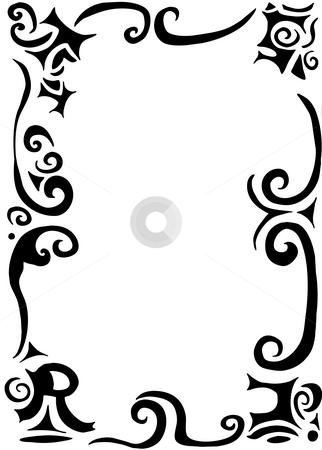 Swirls and scrolls border stock photo, Gothic swirls and scrolls border with word trust by Vanessa Van Rensburg