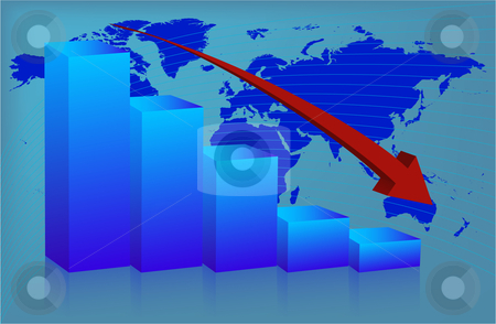 Chart World down stock vector clipart, Chart World down by Vadim Pats