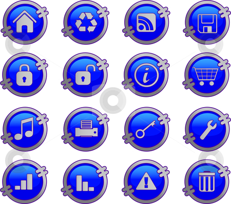 Web icons set stock vector clipart, Web icons set by Vadim Pats