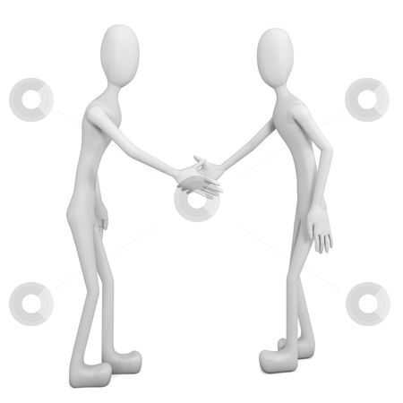 Shake hand stock photo, This 3d model is to illustrate the hand shake by HII CHANG LING