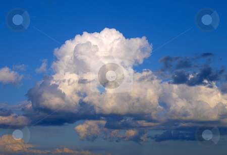 Clouds on sky stock photo, White and grey clouds on a blue sky by Vadim Pats
