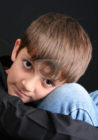 Casual Teen stock photo, Young boy with big eyes in casual attire by Vanessa Van Rensburg