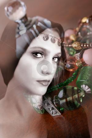 Folk Dress stock photo, Female model wearing folk dress layers with jewelery by Vanessa Van Rensburg