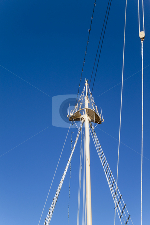 Ships Crowsnest stock photo, The top of a ships crows nest by Kevin Tietz