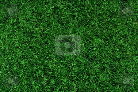 Fake Grass used on sports fields stock photo, Fake Grass used on sports fields for soccer, baseball and football by Brandon Bourdages
