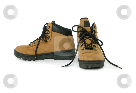 Hiking boots stock photo, A pair of hiking or leisure boots by Leah-Anne Thompson