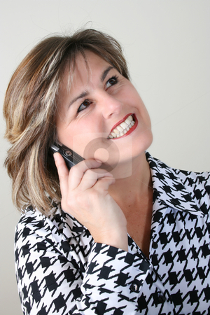 Beautiful Business Woman stock photo, Friendly Business woman talking on a cell phone by Vanessa Van Rensburg