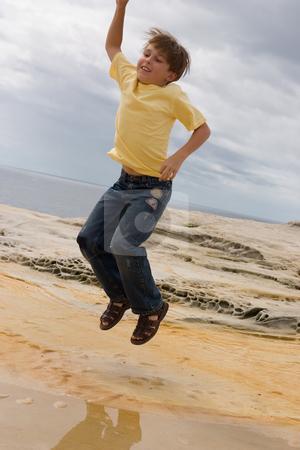 Jump for Joy stock photo, Jump for joy, success, rejoice, leap of faith, etc.Some parts show little bit motion by Leah-Anne Thompson