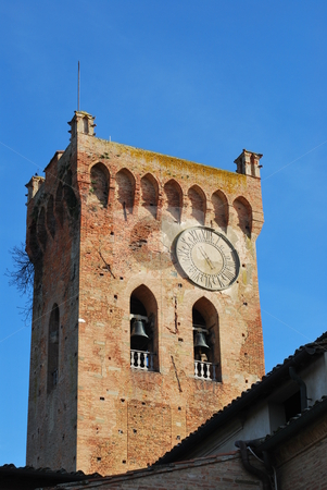 Bell Tower, San Miniato stock photo, The beel tower of te San Domenico church,  in San Miniato, Tuscany by Maurizio Martini