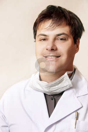 Smiling Doctor stock photo, Smiling doctor, lab worker, etc... by Leah-Anne Thompson