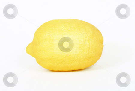 Lemon stock photo, Lemon on white background by Leah-Anne Thompson