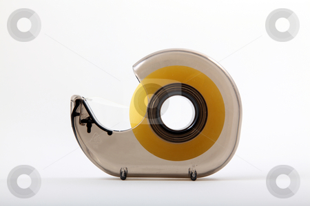 Tape stock photo, Tape and Dispenser by Portokalis