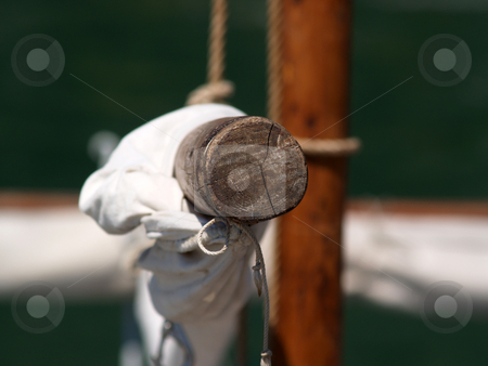 Sailing stock photo, The sail from sailboat by Portokalis