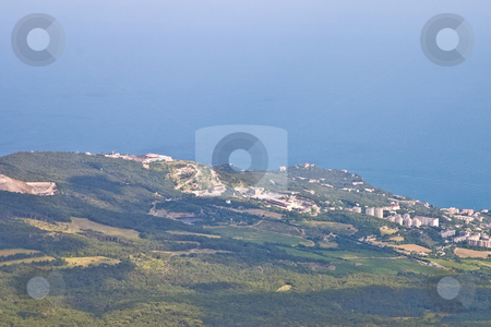 Yalta stock photo, View series: Sea landscape with mountain, Ukraine, Crimea, Yalta by Gennady Kravetsky