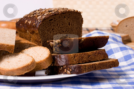 Bread stock photo, Still life with various baked bread by Gennady Kravetsky