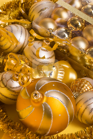 Christmas balls stock photo, Preparation for Christmas: still life with balls by Gennady Kravetsky