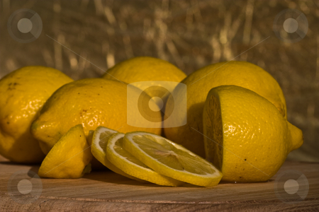 Lemon stock photo, Food series: close up of ripe yellow lemon by Gennady Kravetsky