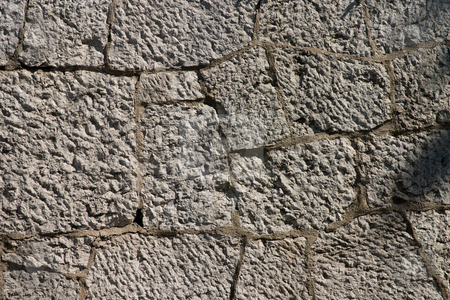 Stone texture stock photo, Texture series:  old gray stone wall background by Gennady Kravetsky