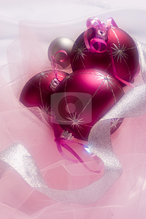 Christmas balls stock photo, Christmas still life with balls, use soft focus by Gennady Kravetsky
