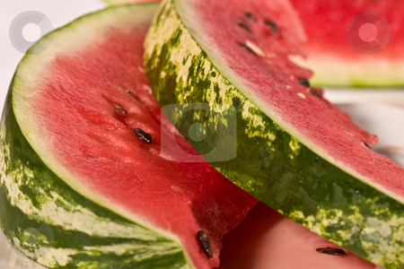 Water-melon stock photo, Food series: macro of ripe fresh red water melon by Gennady Kravetsky
