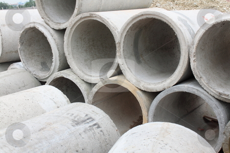 Concrete Pipes stock photo,  by Ah Hock Ong