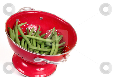 Green Beans stock photo, Fresh uncooked beans by Leah-Anne Thompson