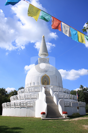 Stupa stock photo, A largest stupa from Europa is in Hungary by ARPAD RADOCZY