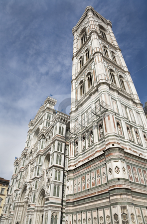 Towards Heaven stock photo, Giotto's Campanile, the bell tower of the Florence Cathedral on the Piazza del Duomo in Florence, Tuscany, Italy, Europe, UNESCO World Heritage Site by mdphot