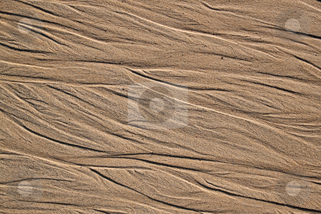 Sand pattern close up natural background. stock photo, Sand pattern close up natural background. by Stephen Rees