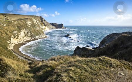 Dorset Jurassic Coast stock photo, A photography of the Dorset Jurassic Coast in autumn by Markus Gann