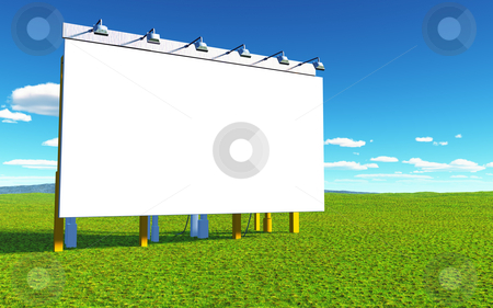 White wall stock photo, An illustration of a white advertising wall by Markus Gann