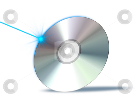 Cd rom stock photo, An illustration of a bluray dvd cd rom by Markus Gann